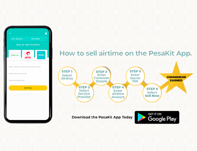How to sell airtime on PesaKit App and earn money